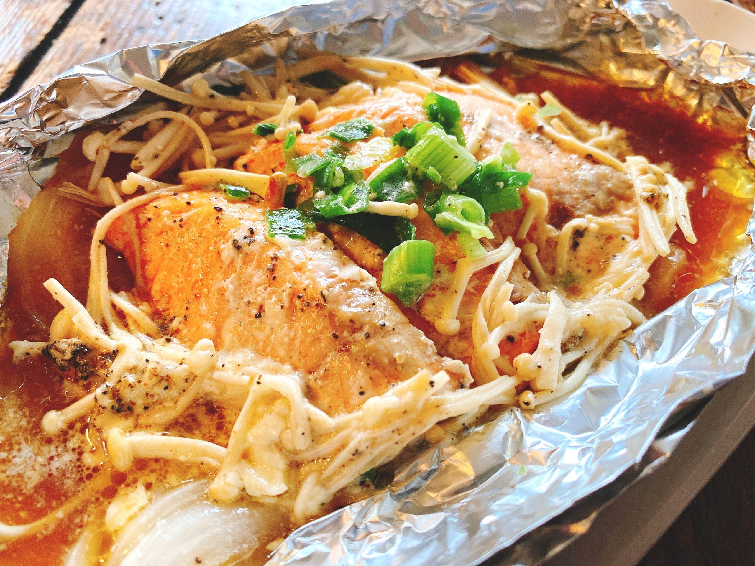 鮭 えのき ホイル 焼き